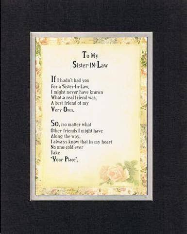 Touching and Heartfelt Poem for Sisters - To My Sister-in