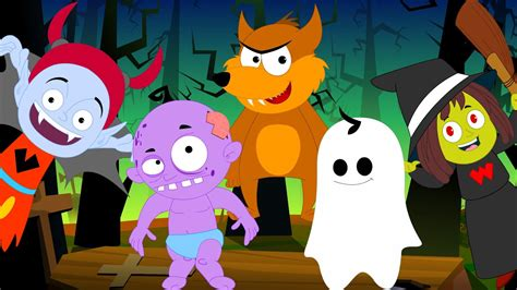 Five little Monsters   Scary Rhymes   Halloween Song