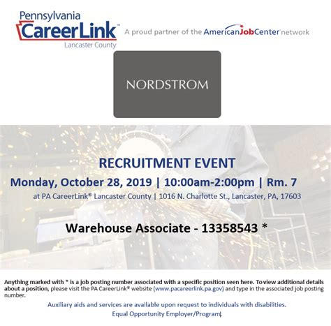 Nordstrom Recruiting Event Oct