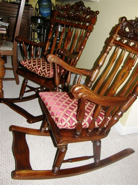 I'm Trying To Identify 2 Antique Rocking Chairs | My